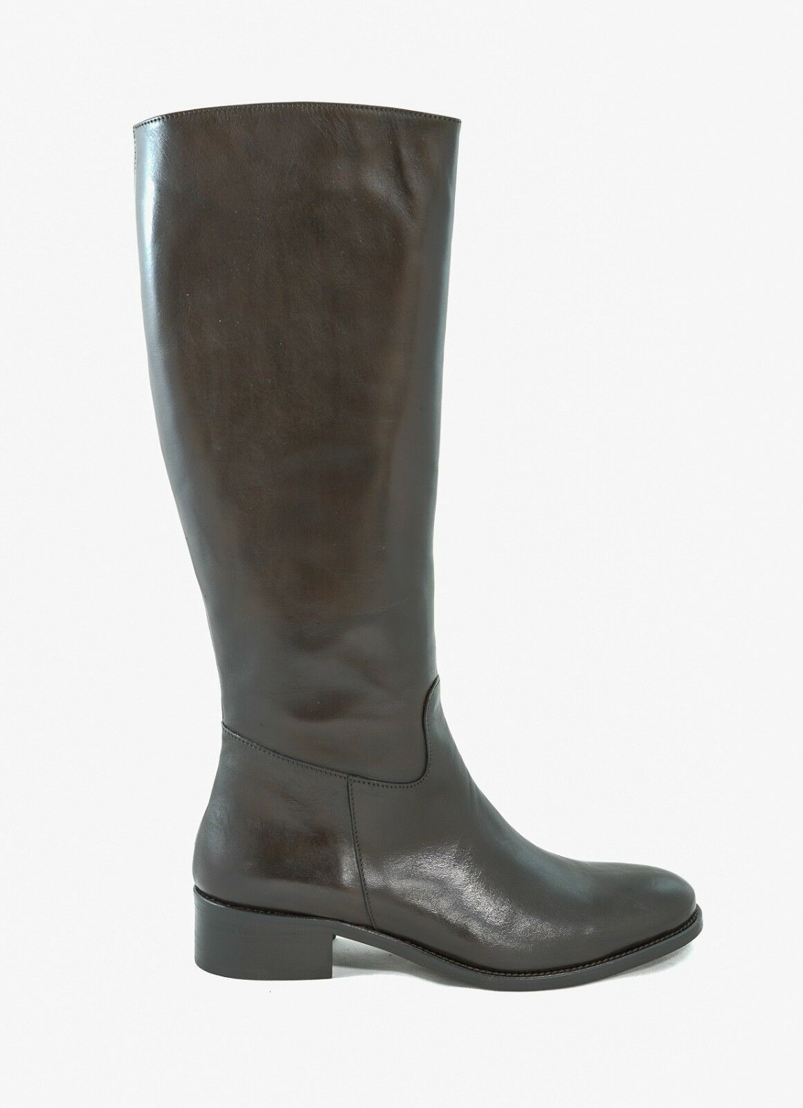 New In Box Bruno Magli Erregina Dark Brown Leather Boot