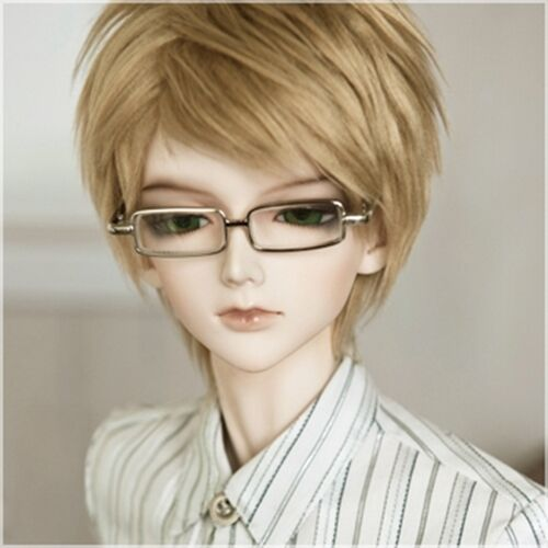 "BJD Glasses Vintage Handsome Silver Frame Glasses For 16 11"" YOSD BJD Doll G&D"