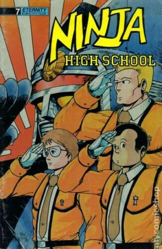 Ninja High School #7 FN 1988 Stock Image