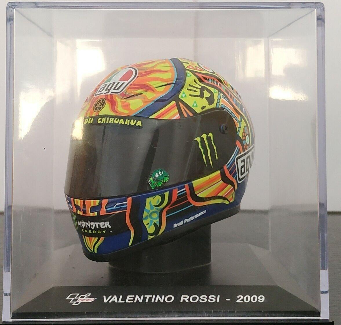 1 5 helmet valentino rossi  2009 helmet ixo altaya scale  pas cher en ligne