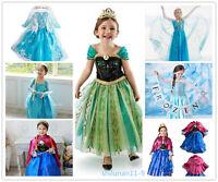 Kids Girls Dresses Elsa Frozen dress  Princess Anna dresses