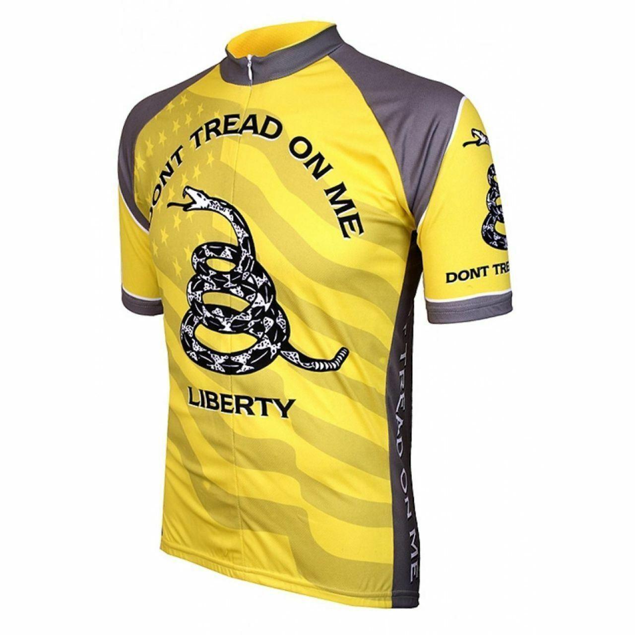 Don't Tread on Me  Men's Full Zip Short Sleeve Cycling Jersey