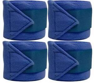 Set-Of-4-ROYAL-BLUE-Fleece-Polo-Leg-Wraps-NEW-HORSE-TACK