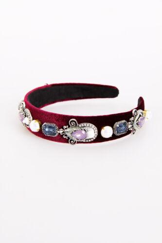 New Womens Girls Jewel Diamante Fabric Embellished Celebrity Headband