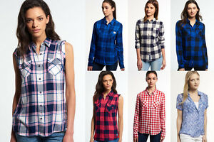 New-Womens-Superdry-Shirts-Various-Styles-amp-Colours