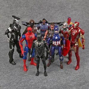 Marvel-Legends-Captain-America-3-Civil-War-Iron-Man-Action-Figures-Toys-10pcs