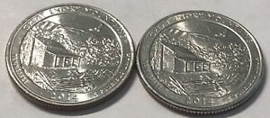 2018 P and D 2 Coin Cumberland Island Washington Quarters Set In BU Condition