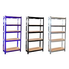 5 Tier Galvanised Steel Garage Shelving Racking Unit Storage Racks