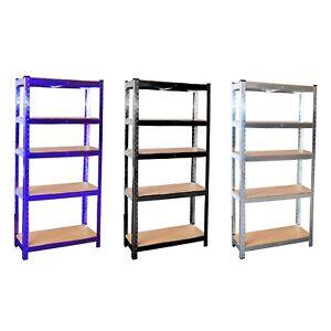 5-Tier-Galvanised-Steel-Garage-Shelving-Racking-Unit-Storage-Racks
