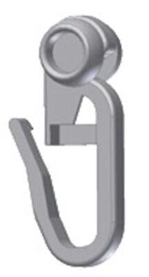100x Rollringe 8mm Gardinenhaken Faltenlegerolle Faltenrolle Gardinenröllchen