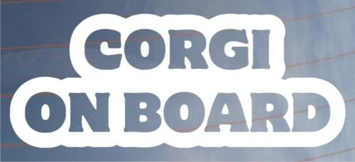 CORGI ON BOARD Novelty Car//Van//Window//Bumper Sticker Ideal for Dog Owners