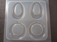 Resin Mold Earring Hoops 2 Shapes Earrings Epoxy Jewelry Embed Items Donut Hoop
