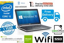 Fast Dell E6230 Laptop i5 3340M 2.7Ghz 8GB 128GB SSD Webcam Window 10 Wifi HDMI*