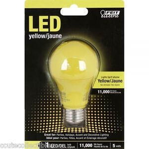 Yellow Led 60w Equivalent 5w Feit Bug Light Bulb