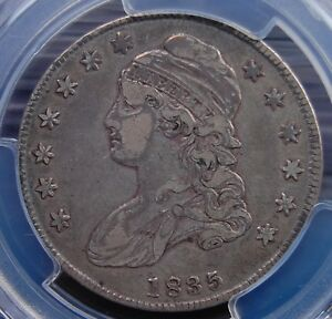 1835-CAPPED-BUST-HALF-DOLLAR-PCGS-VF-35-NICE-AND-ORIGINAL-WELL-STRUCK-EXAMPLE