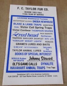 1983-84-F-C-Taylor-Fur-Co-Louisville-Kentucky-Trapping-Supply-Catalog-gt