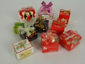 Vintage-Mini-Decorative-Paper-Candy-Boxes-Made-in-West-Germany