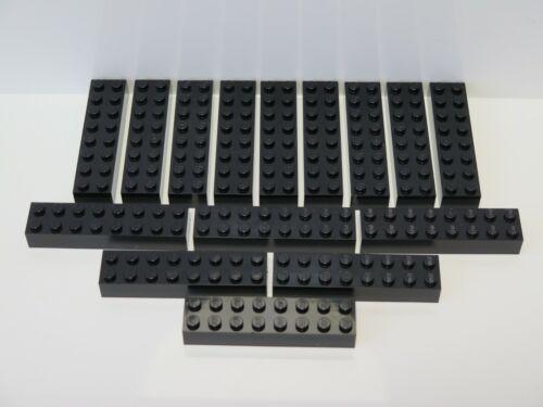15 x Lego parts 3007 BRICK 2 x 8 Black New 10264 71043 60197 21127 60097 76023