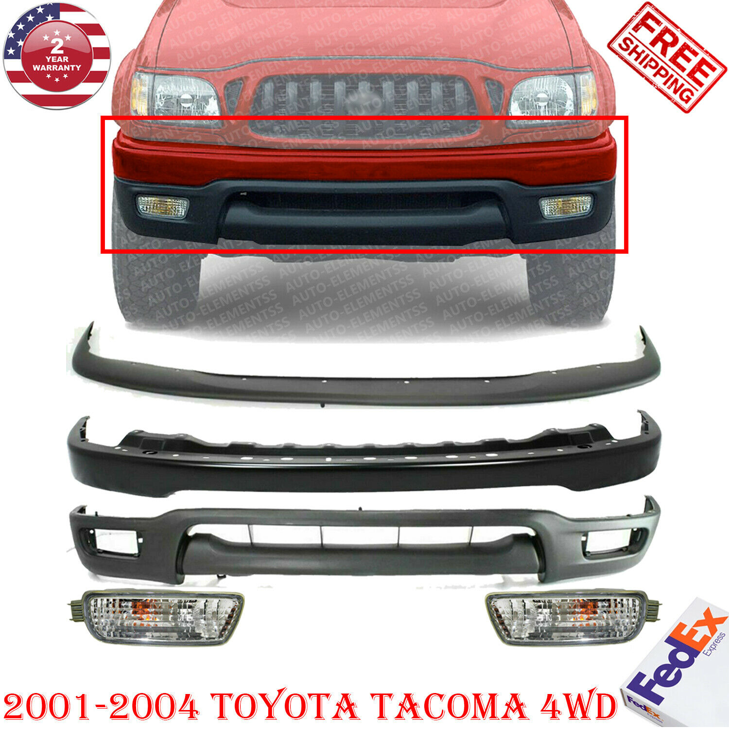 Partslink Number TO1087112 OE Replacement Toyota Tacoma Front Bumper Filler