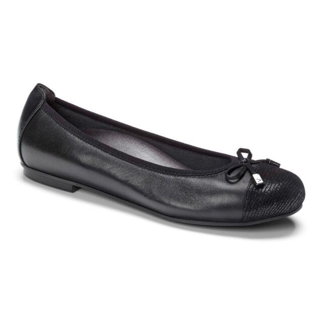 Vionic Womens Spark Minna Ballet Flat Black Slip On Comfort Size10.5 New