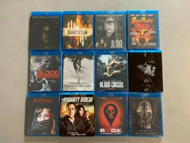 Blu-ray lot Victims Sanitatum 5150 Bus Party Hell Blood Hunters Atoning Awaken S