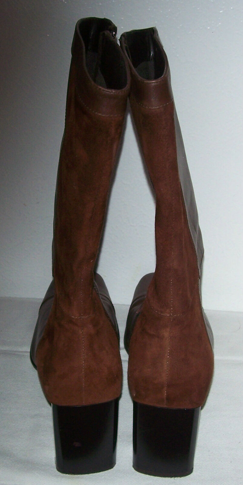 Naturalizer LANCASTER Brown Soft Leather Leather Leather Suede Boots Size.8.5 - 2.75  Heels 40da77