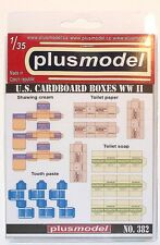 Plus model No.382 U.S. Cardboard Faltkartons in 1:35 Kartons Diorama