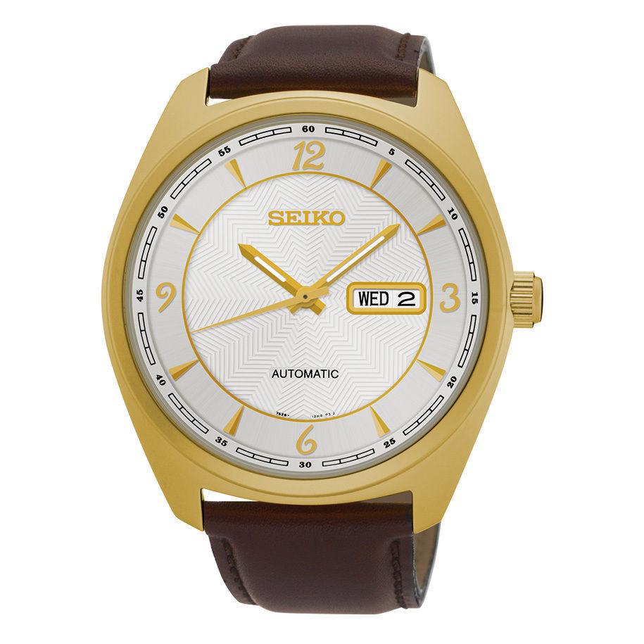 Seiko Recraft Gold Accent Brown Leather Strap Mens Watch Snkn70 Ebay Casio Ltp 1378l 2e Women Quartz Blue Norton Secured Powered By Verisign