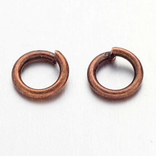 10g Strong Brass Open Jump Rings Unsoldered Loop Findings 6 Colors Pick 4~10mm