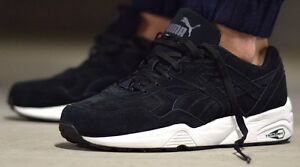 the best attitude be17c 5bce3 Details about Puma R698 All Over Suede Size 10.5 or 12 Black White 2016