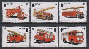 Jersey-2001-Pompiers-Feu-Moteurs-Ensemble-MNH-Sg-1007-12