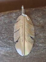 Navajo Indian Jewelry Handmade Sterling Silver Feather Pendant Ben Begay