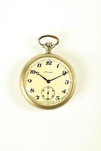 MOLNIJA VINTAGE RUSSIAN pocket Watch USSR SU 18 Jewels mechanism 3602®  СССР