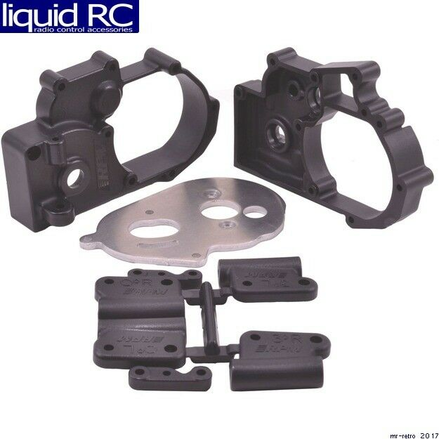 RPM R/C Products 73612 Gearbox Housing & R Mounts Black:TRA 2WD Vehicles