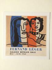 FERNAND LEGER, private view invitation card, 2017