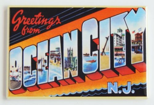 """Details about  /Greetings from Ocean City New Jersey FRIDGE MAGNET travel souvenir /""""style A/"""""""