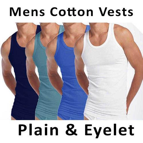 3x Homme Summer Gilets Coton Tank Top Gym Entraînement Lot œillets Gilet Taille S M L XL
