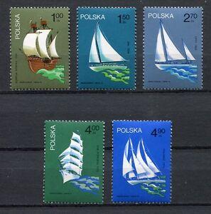 35870) . Poland 1974 MNH Polish Sailing Ships 5v