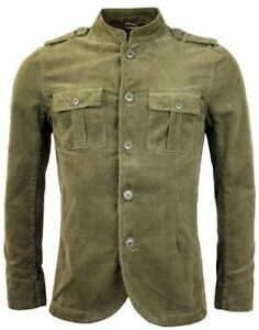 a0900c4f4d6 Image is loading Mandarin-Corduroy-Military-Jacket-MOD-Pretty-Green-122-