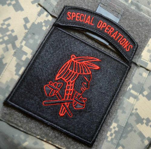 "Hatchet man JSOC GREEN BERETS SFG SAS ODA JTF2 KSK burdock 2/"" SWAT BLACK TAB"
