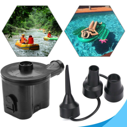 Portable BATTERY ELECTRIC AIR PUMP INFLATABLE BED AIRBED BLOW UP FOOT AIRPUMP
