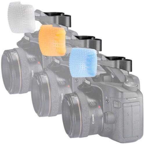 DIFFUSORE FOTOCAMERA OLYMPUS 3 COLORI FLASH INTERNO POP UP E-620 E-600 E-450 E-3