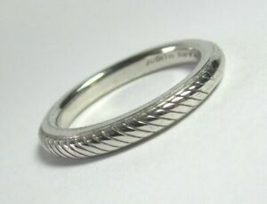 JUDITH-RIPKA-Sterling-Silver-Textured-Ring-Band-4-4-grams-size-8-lot-28v9