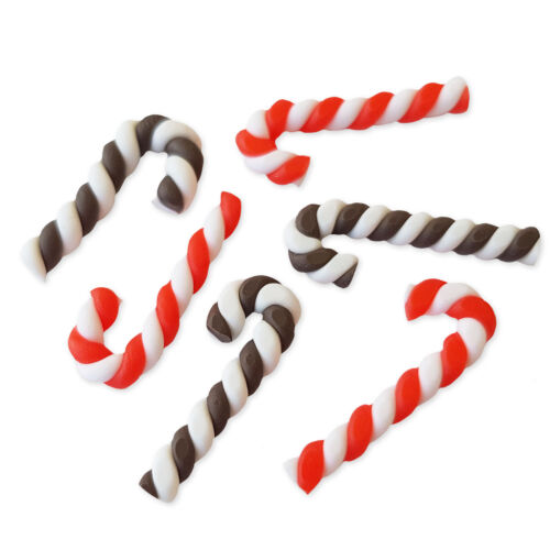 6pcs Clay Peppermint Christmas Cane Sweets Kawaii Decoden Craft  Embellishments