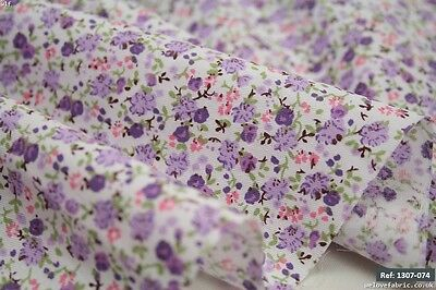 Small flowers 100% cotton fabric. Low Price & High Quality 10m[1307-074]