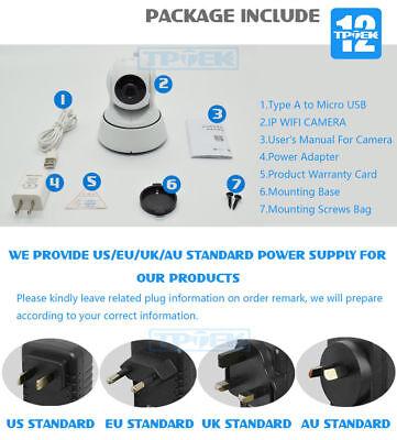 720P HD Wireless Wifi IP Camera CCTV Webcam Baby//Pet Monitor Cam+32GB SD Card