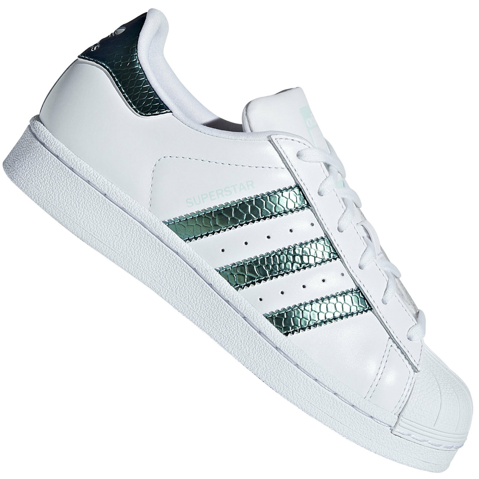Adidas Originals Superstar Junior Bambino Scarpe Sneaker Shimmer Metallizzato