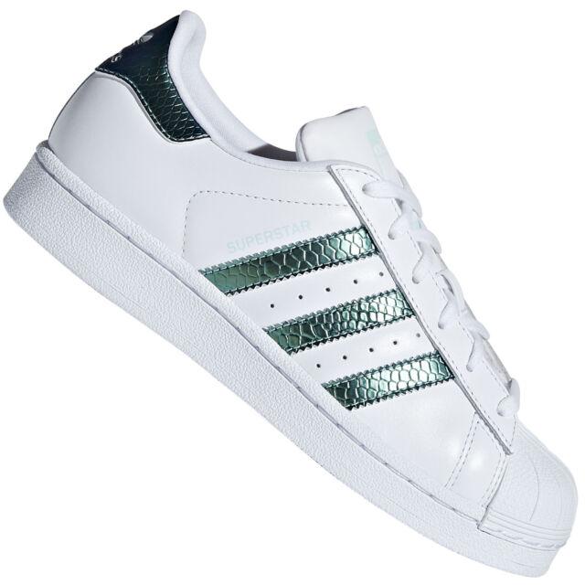 online store 8673e a7fb0 adidas Originals Superstar Junior Kinder Damen Sneaker Schuhe Schimmer  Metallic