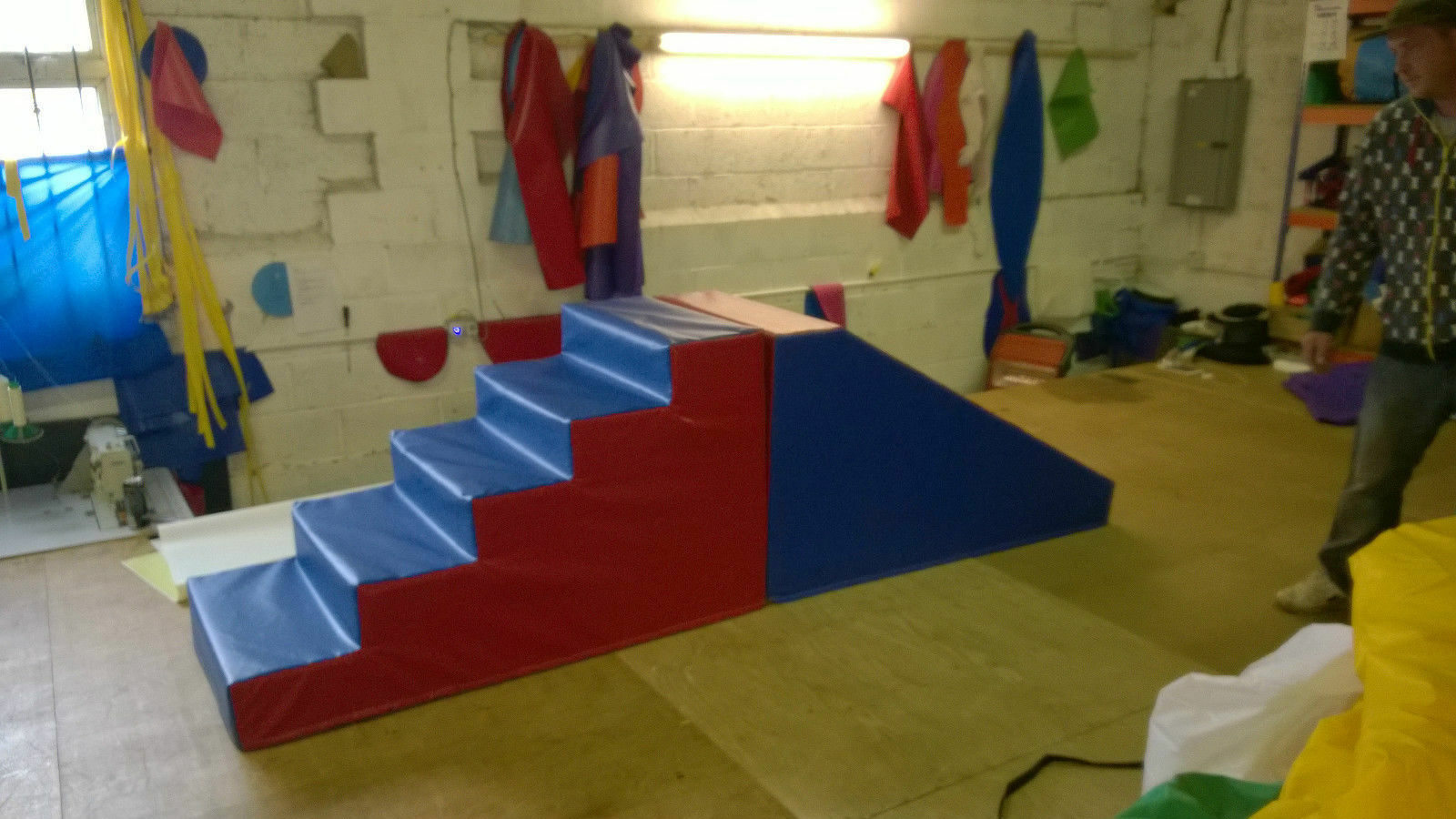 Large Step and Slide set  ideal soft play add on Any colours