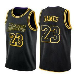 Lebron James LA Lakers #23 Stitched Mens Jersey Black Mamba ...